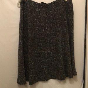 Gray pebbly A-line skirt 18/20